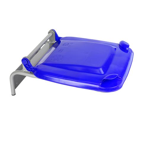Držák na pytle s plastovým víkem, modrý