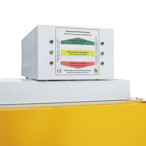 Nucená ventilace s filtrem