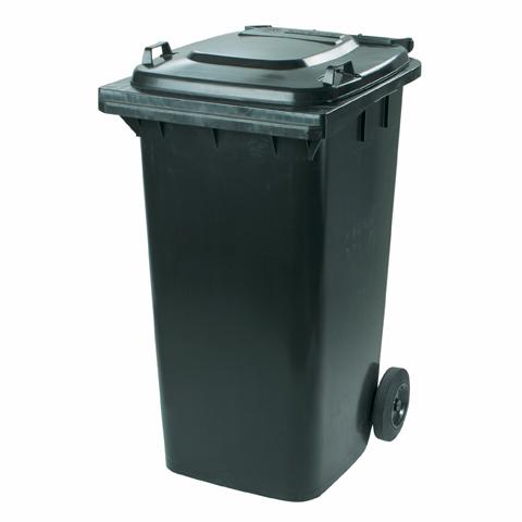 Plastová nádoba s kolečky černá