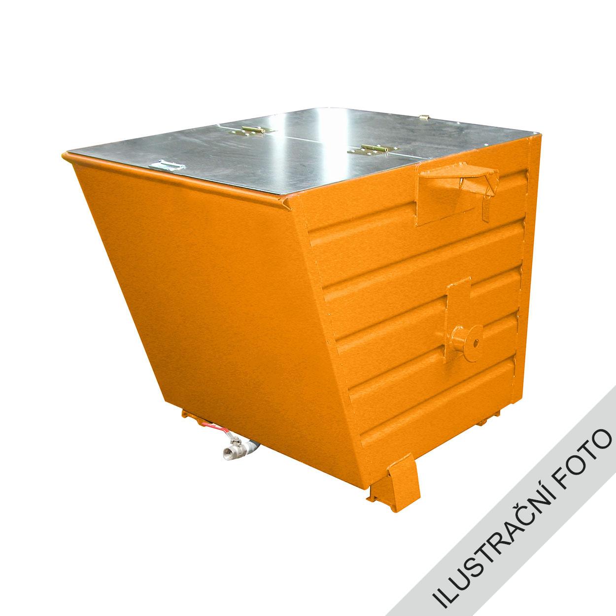 Výklopný kontejner TRV s výpustí a víkem