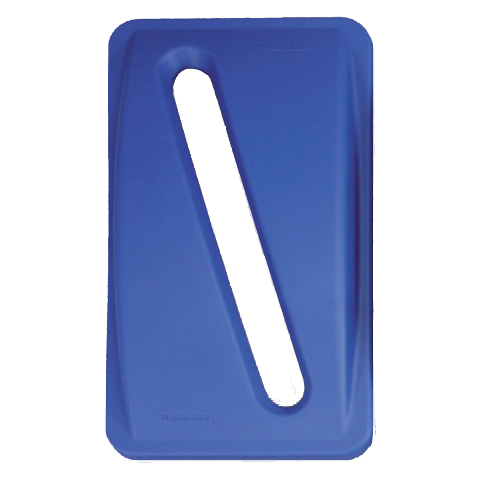 Víko s podélným otvorem modré