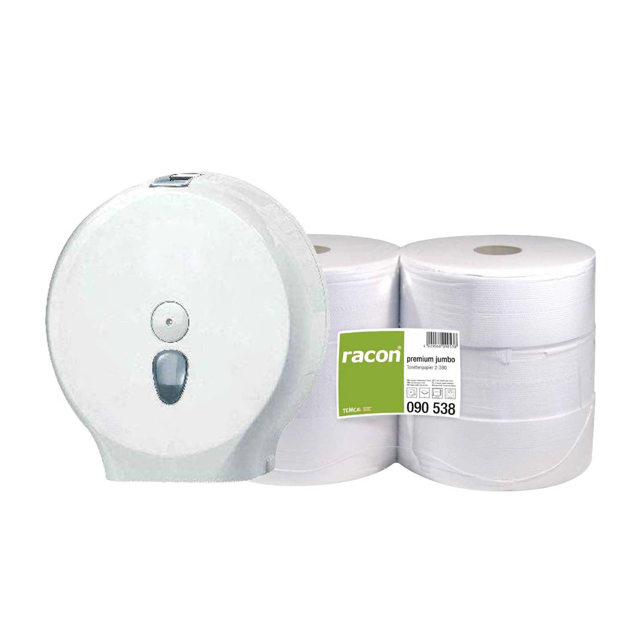 Set toaletních papírů Jumbo a zásobníku
