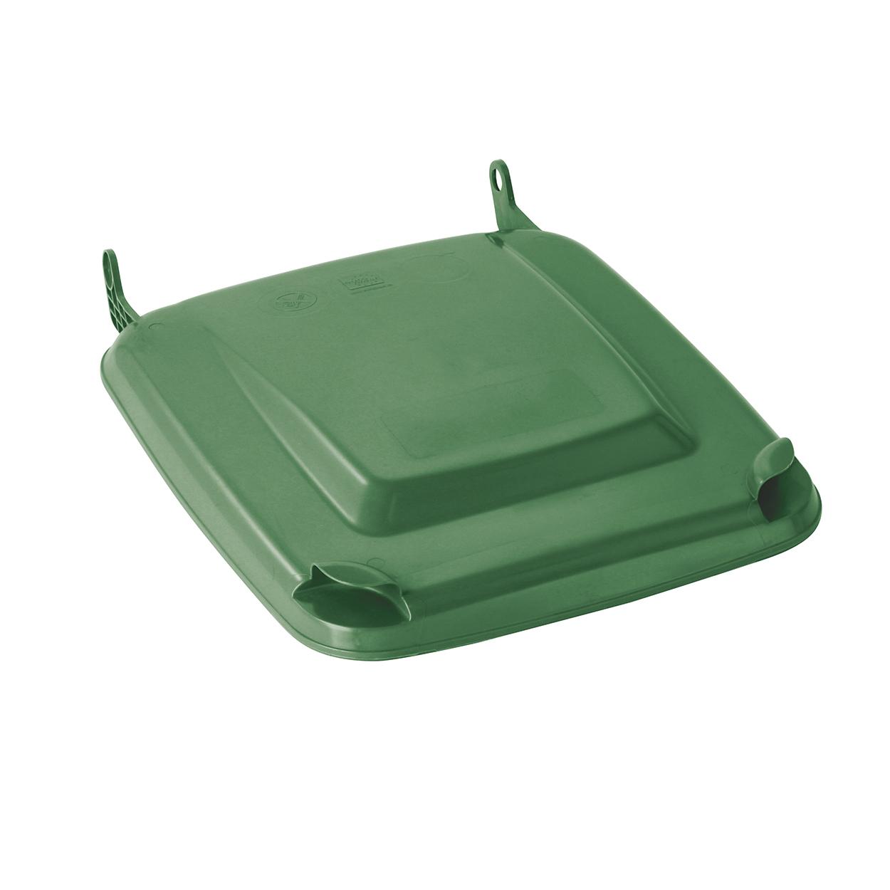 Víko k plastové nádobě 240 l, zelené