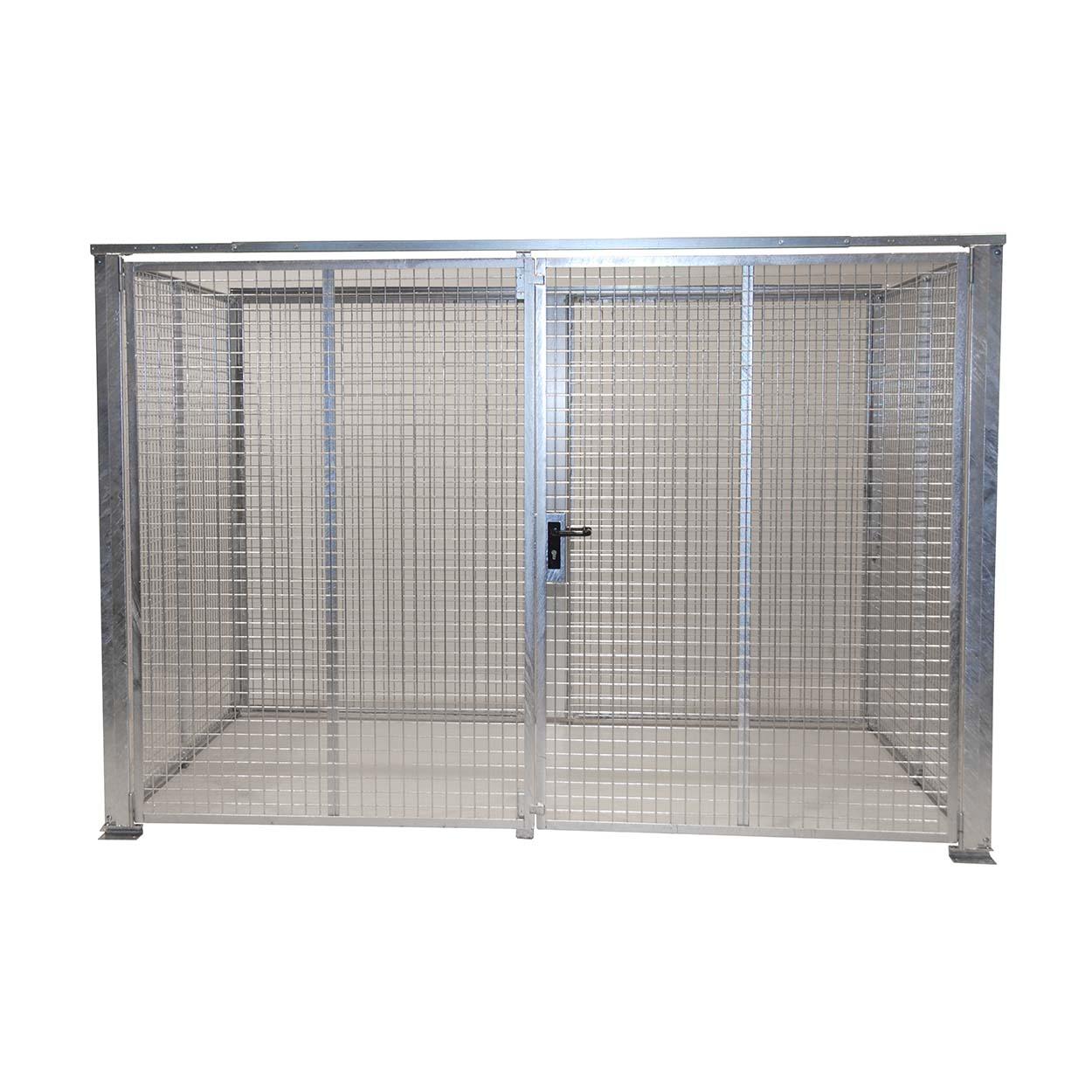 Klec pro skladování tlakových lahví, dvoukřídlé dveře