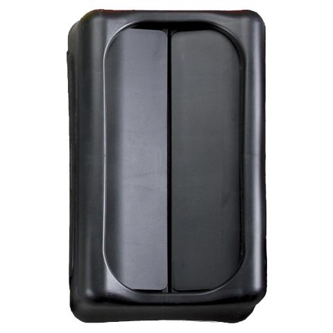 Víko s výkyvnou klapkou černé
