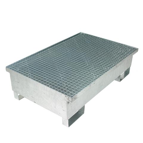 Záchytná vana pro 2 sudy - žárově zinkovaná