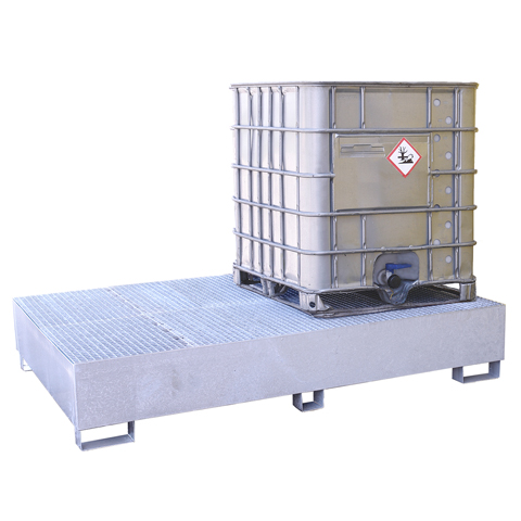 Záchytná vana pod 2 IBC kontejnery