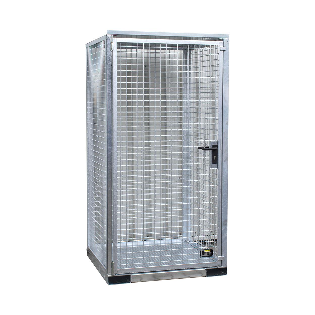 Klec pro skladování tlakových lahví s pevnou podlahou