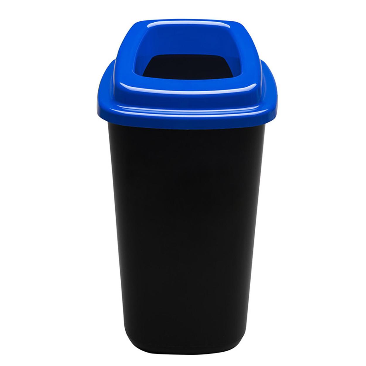 Plastový koš na tříděný odpad, 45 l, modrá