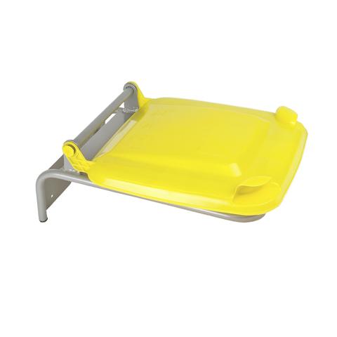 Držák na pytle s plastovým víkem, žlutý