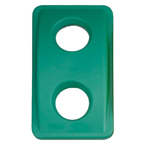 Víko s kulatými otvory zelené