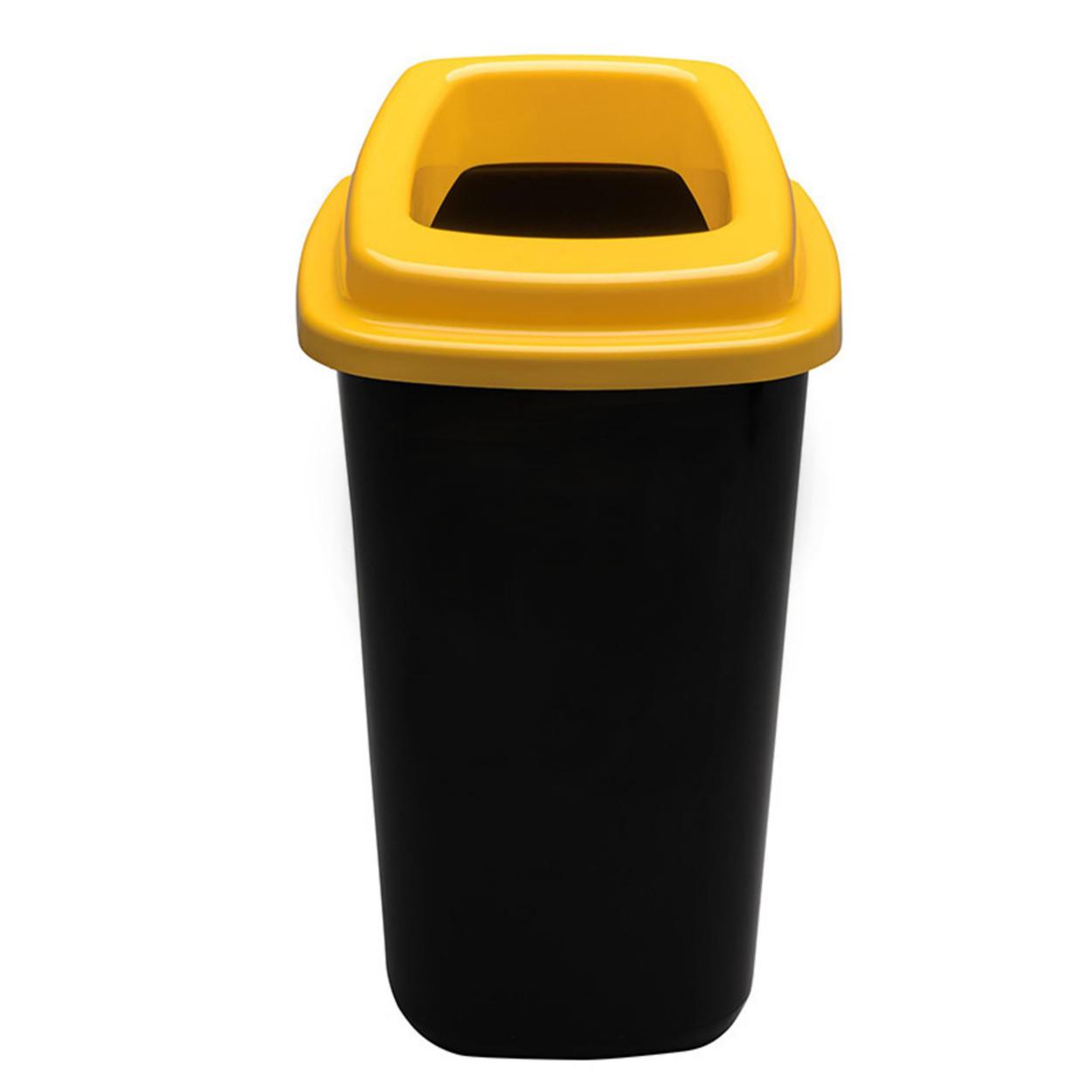 Plastový koš na tříděný odpad, 45 l, žlutá