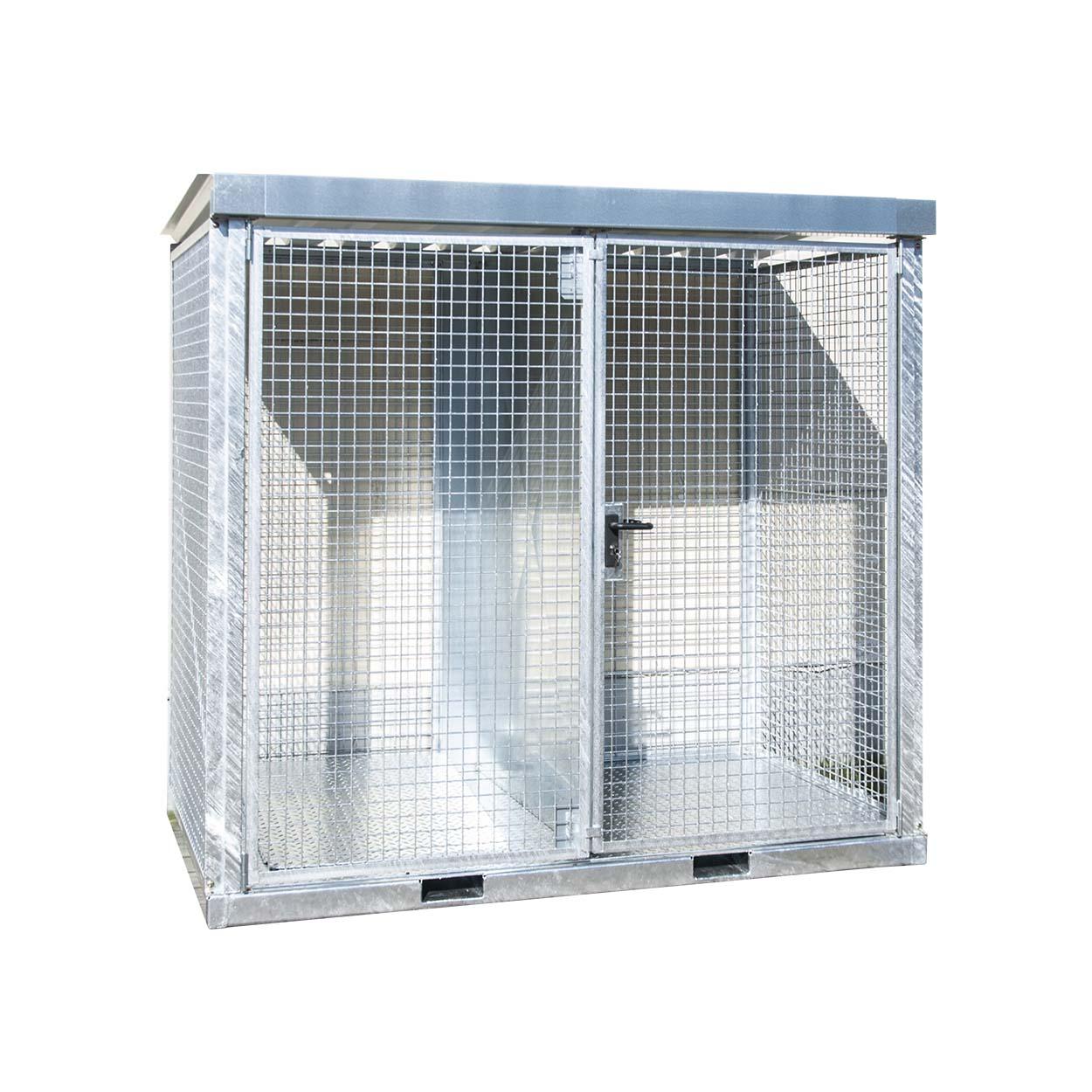 Klec pro skladování tlakových lahví s pevnou podlahou, stěna