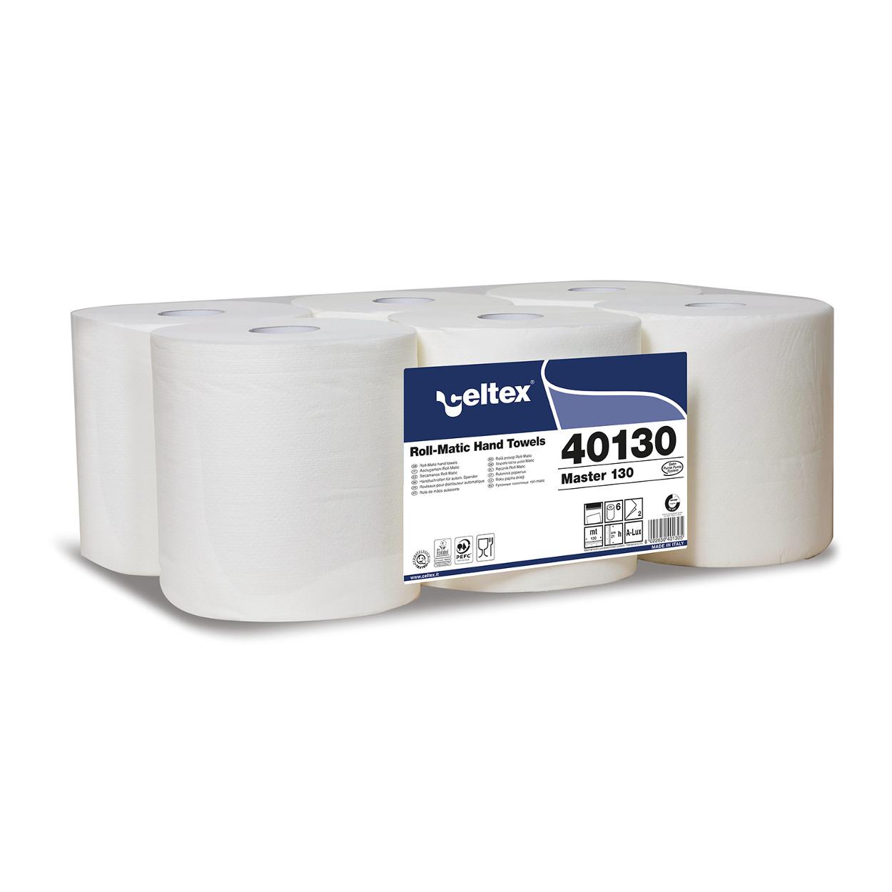 Papírové ručníky v roli, bílé