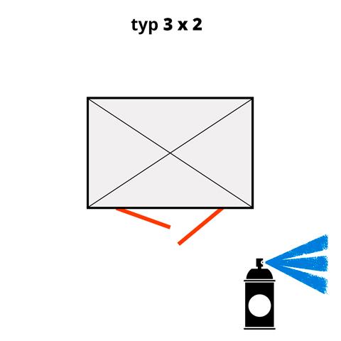 Dodatečný nátěr pro ekosklady 3 × 2  - modrá (RAL 5015)