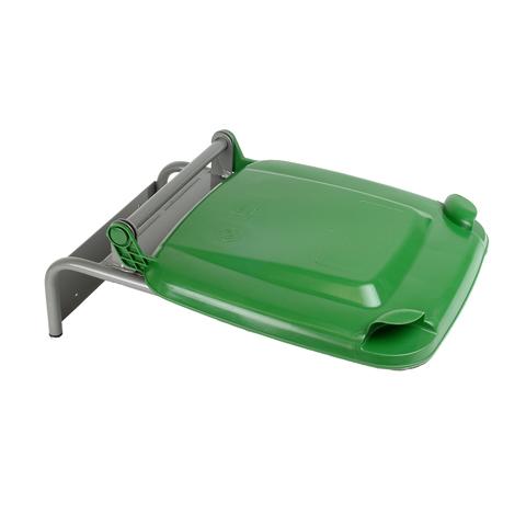Držák na pytle s plastovým víkem, zelený