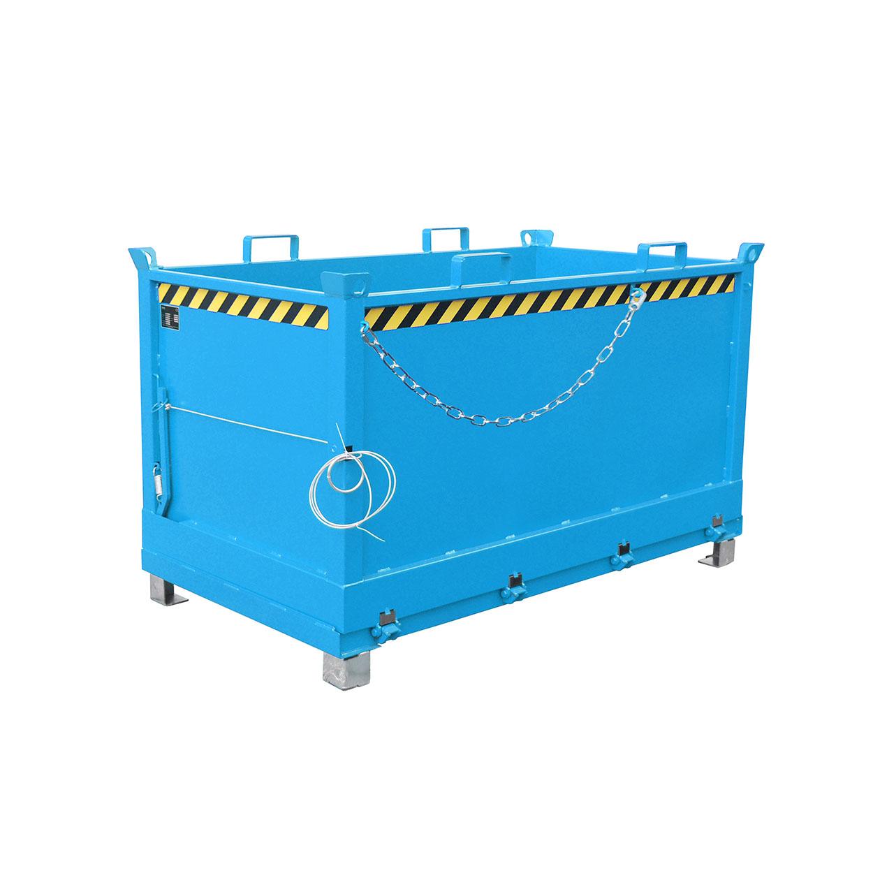 Stohovatelný kontejner s vyklápěcím dnem