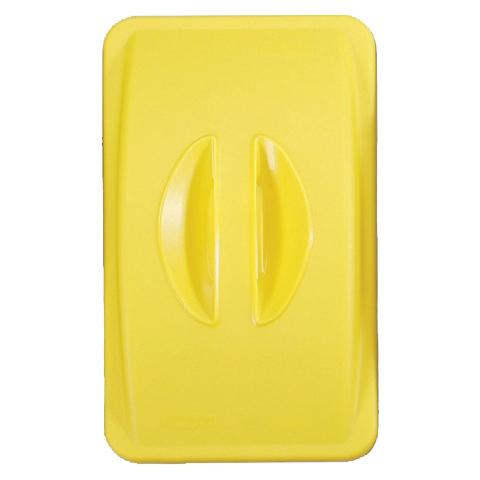Víko s madlem bez otvoru žluté