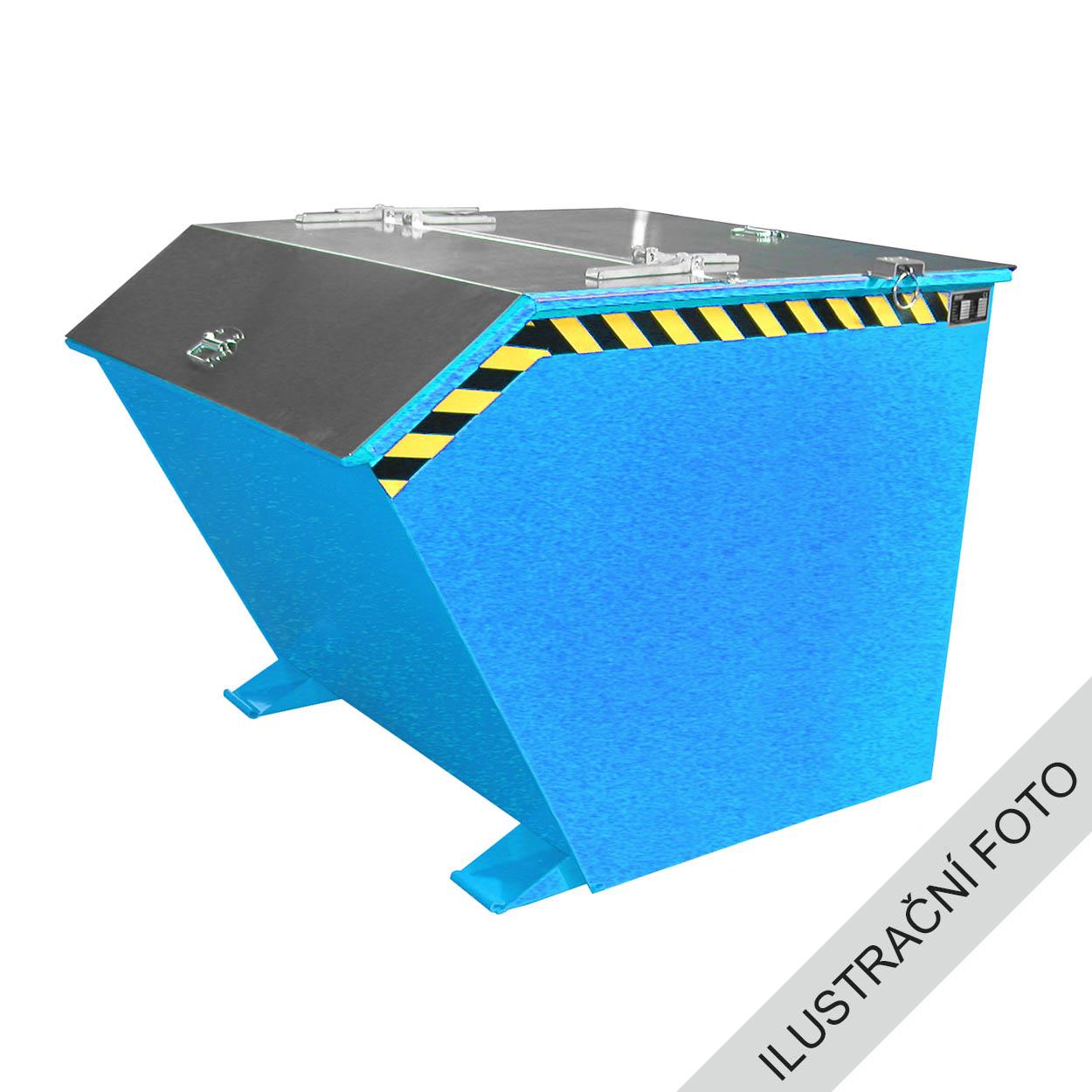 Výklopný kontejner s víkem