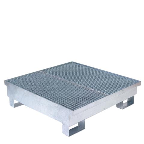 Žárově zinkovaná záchytná vana pro 4 sudy