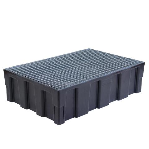 Záchytná vana s pozinkovaným roštem pro 2 sudy