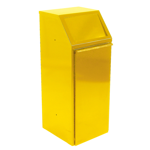 Kovový výklopný koš 70 l, žlutý