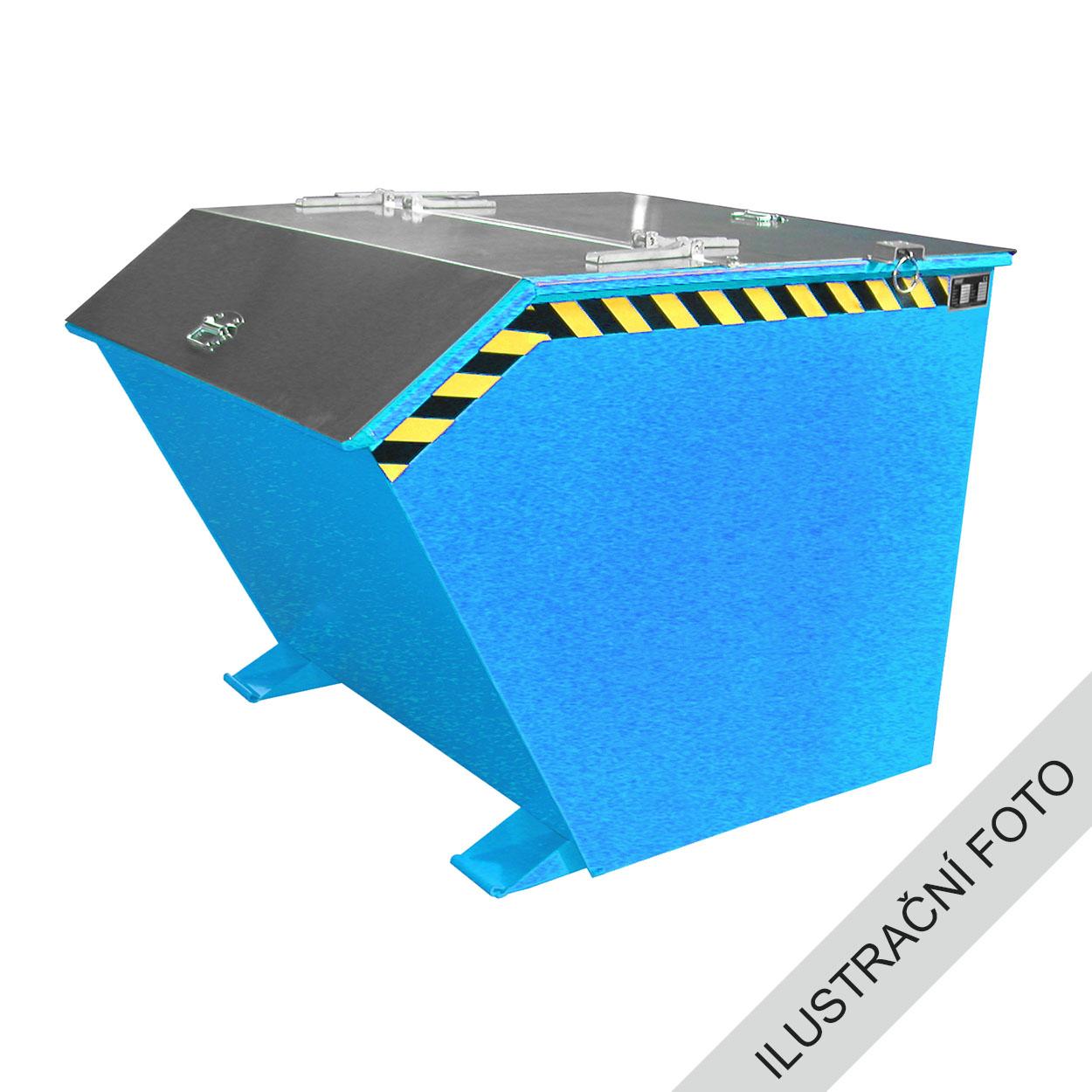 Výklopný kontejner s výpustí a víkem