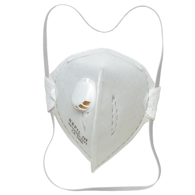 Ochranný respirátor FFP1 NR D, skládaný s ventilem