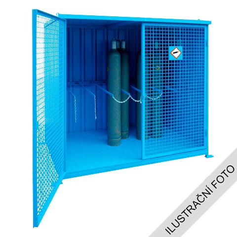 Klec pro venkovní skladování tlakových láhví - s podlahou