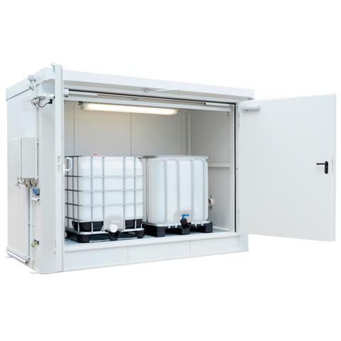 Protipožární kontejner - odolnost 90 minut s aretací dveří