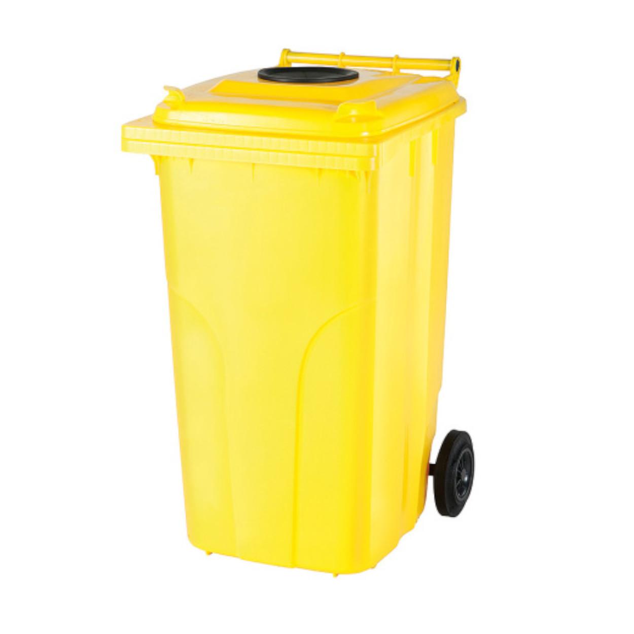 Plastová nádoba s kolečky pro sběr plastů