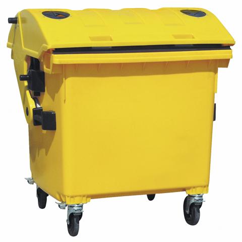 Plastový kontejner s otvorem na plasty, se zámkem