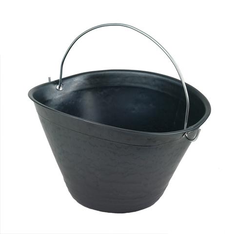 Kbelík s ocelovým držadlem