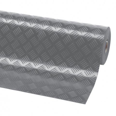 Průmyslová ochranná rohož v roli, 3 mm, lisovaný plech