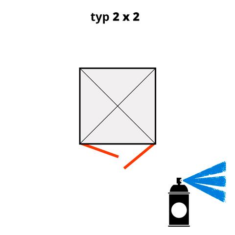 Dodatečný nátěr pro ekosklady 2 × 2  - modrá (RAL 5015)