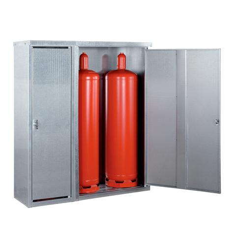 Skříň pro skladování malých tlakových láhví
