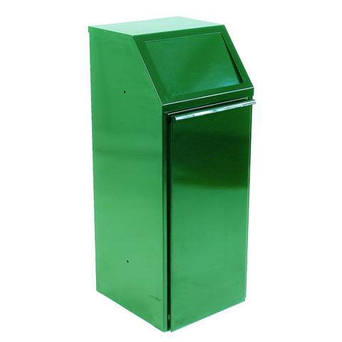 Kovový výklopný koš 70 l, zelený