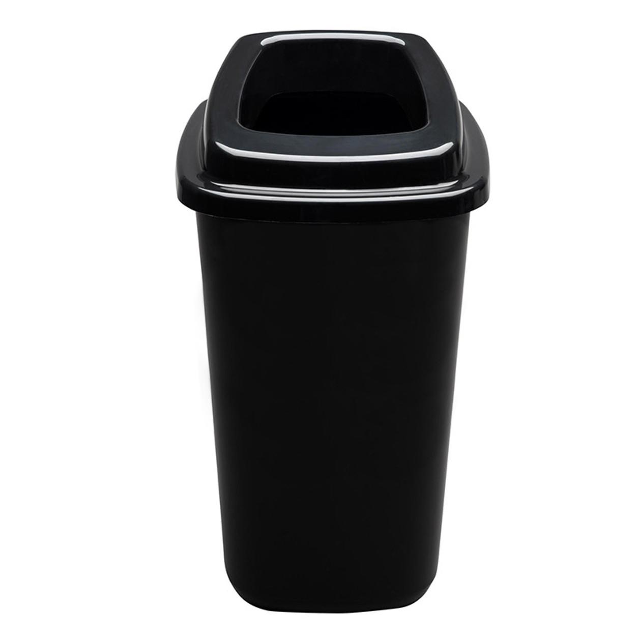 Plastový koš na tříděný odpad, 90 l, černá