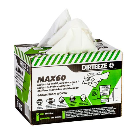 Měkká textilní průmyslová utěrka MAX 60 ve výdejním boxu