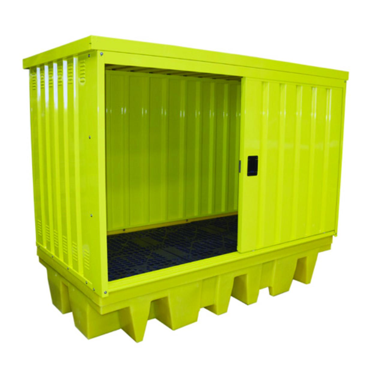 Záchytná krytá vana  pro 8 sudů/2 IBC kontejnery