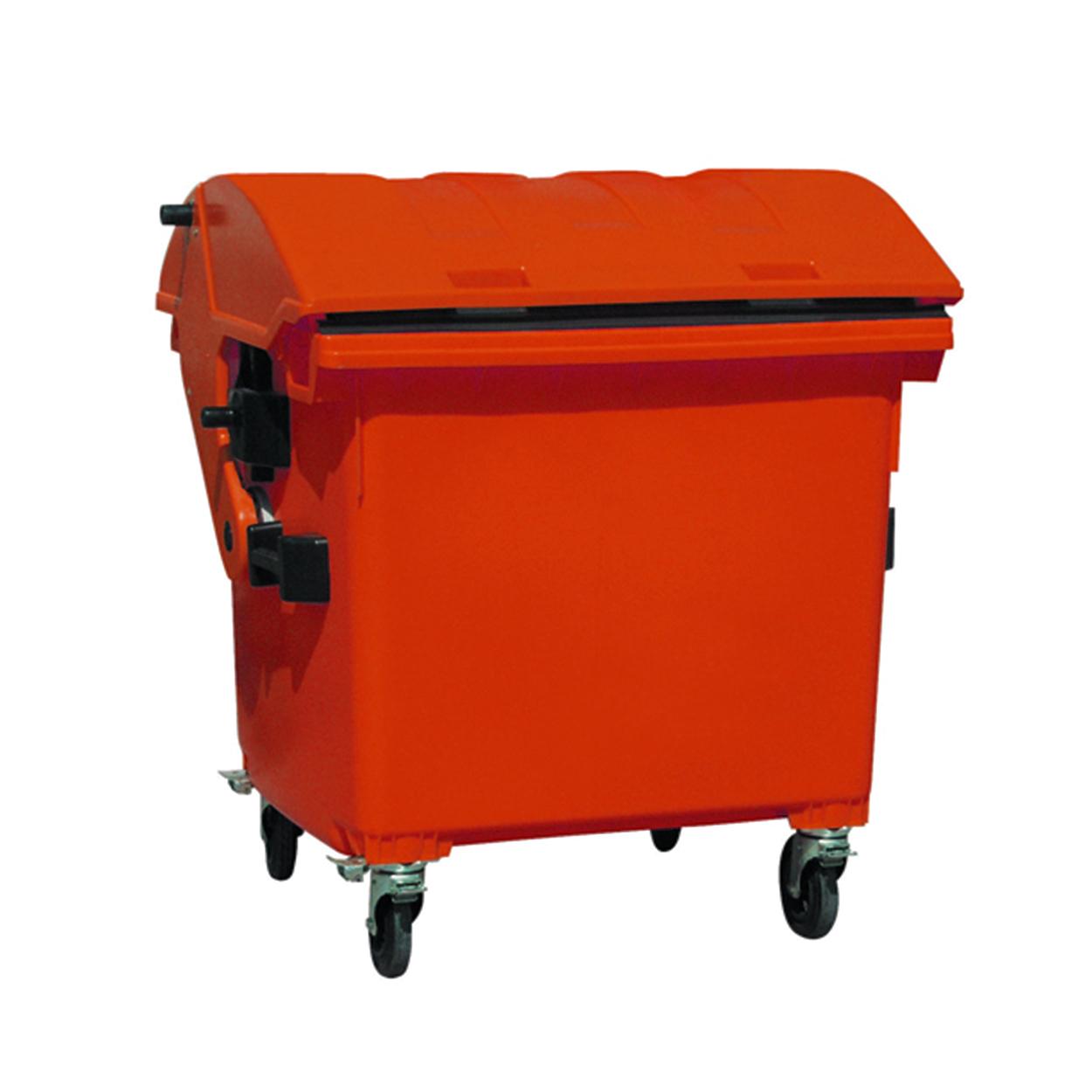Plastový kontejner s klenutým víkem, červený