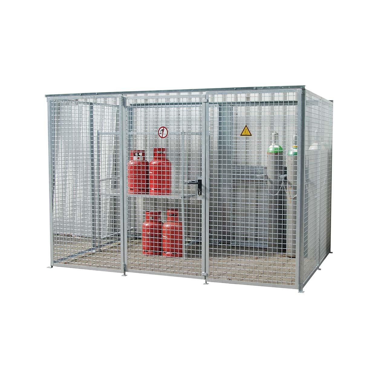 Klec pro skladování tlakových láhví bez podlahy a střechy