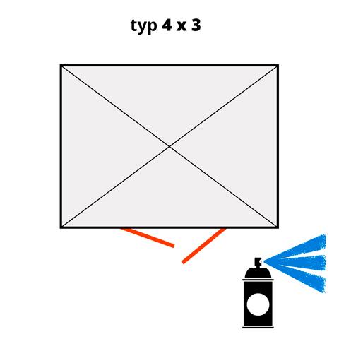 Dodatečný nátěr pro ekosklady 4 × 3  - modrá (RAL 5015)