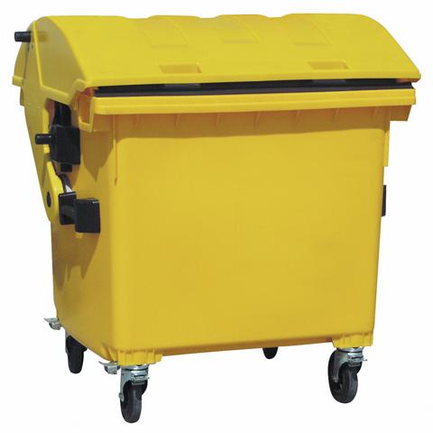 Plastový velkoobjemový kontejner s klenutým víkem