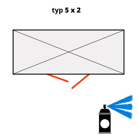 Dodatečný nátěr pro ekosklady 5 × 2  - modrá (RAL 5015)