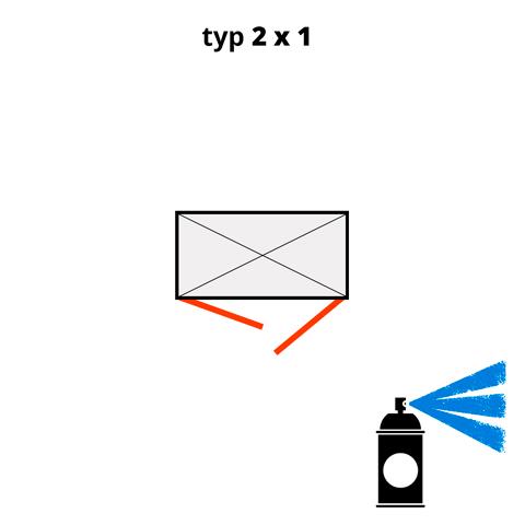 Dodatečný nátěr pro ekosklady 2 × 1  - modrá (RAL 5015)