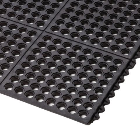 Protiúnavová průmyslová rohož, děrovaná, modulová
