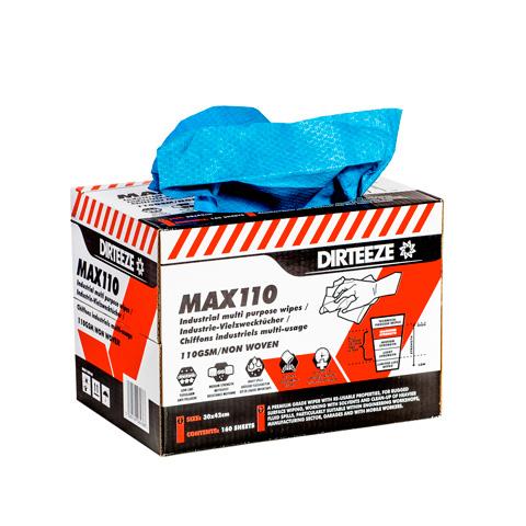 Pevná textilní průmyslová utěrka MAX 110 ve výdejním boxu