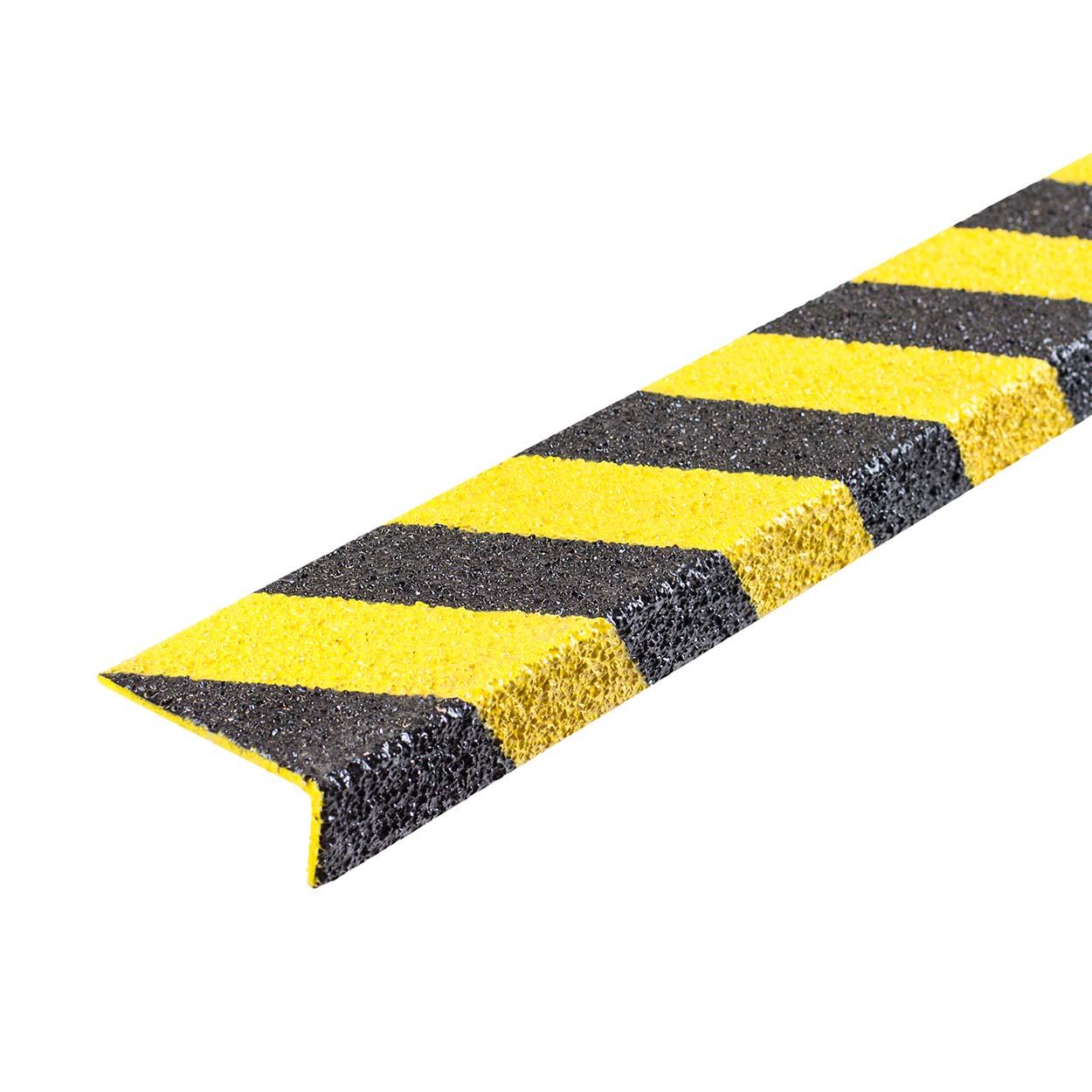 Protiskluzový sklolaminátový profil na schod - úzký, černá/ž