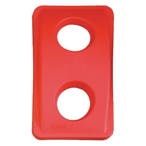 Víko s kulatými otvory červené